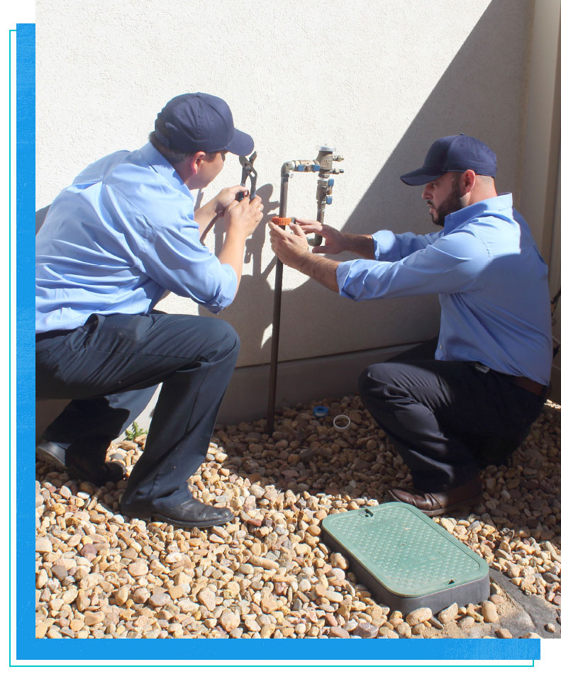 Water line fixtures, installations and tests